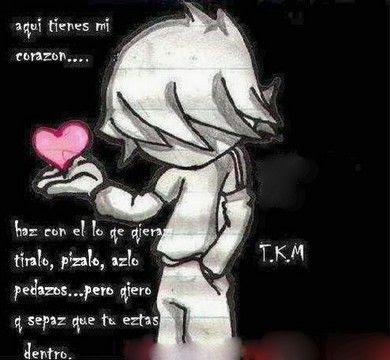 Aqui tienes mi corazon