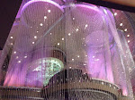 Inside the Cosmopolitan, it's a fantastic chandelier theme.  This is a 3-story bar contained within.