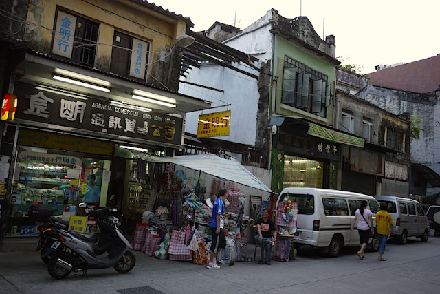 narrow buildings in Macau