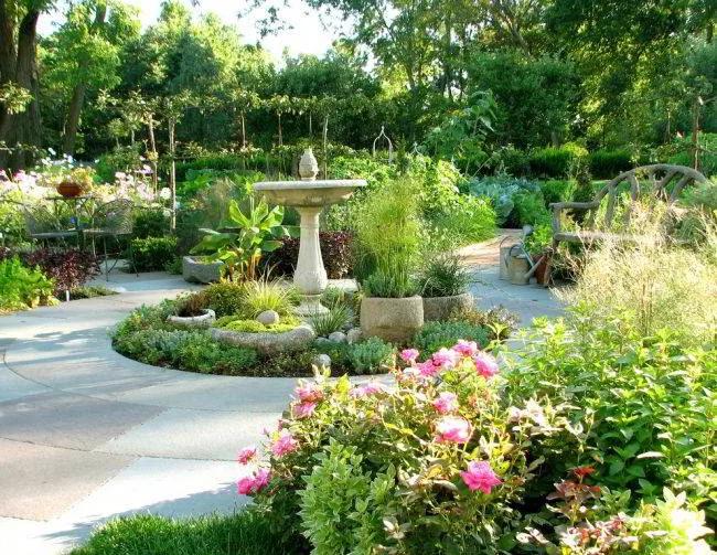 thiết kế sân vườn châu âu