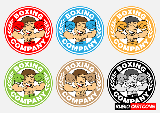 FUNNY BOXER LOGO DESIGN FOR BOXING SCHOOL