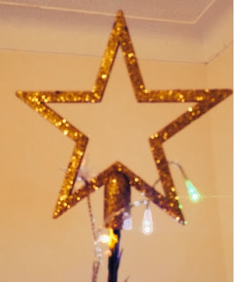 B&Q Gold Tree Star