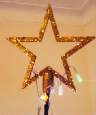 B&Q Gold Tree Star