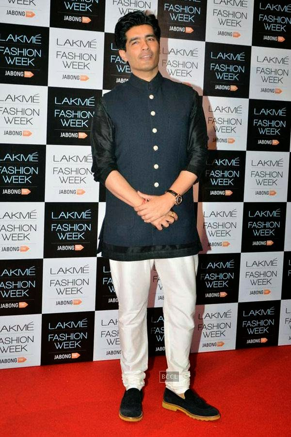 Fashion designer Manish Malhotra during Lakme Fashion Week curtain-raiser, held in Mumbai, on July 28, 2014. (Pic: Viral Bhayani)