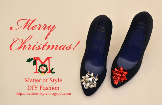 diy gift bow christmas shoes