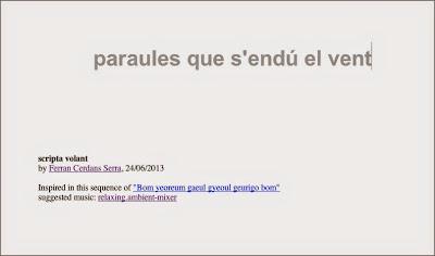 Scripta Volant, script by Ferran Cerdans