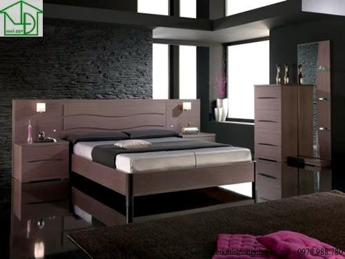 Giường ngủ được làm bằng gỗ công nghiệp