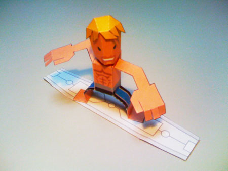 Surfer Dude Paper Toy