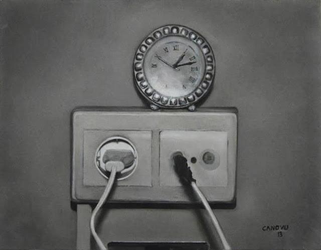 Conexión temporal,obra del pintor Canovu