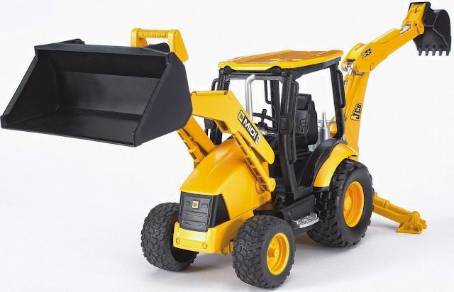 Mô hình Xe xúc đào tổng hợp JCB Midi CX Backhoe Loader có thể chơi trong nhà hoặc ngoài trời