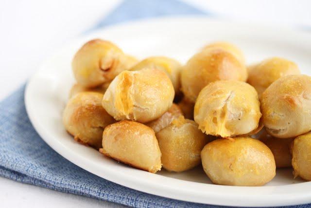 close-up photo of Nacho Pretzel Bites on a plate