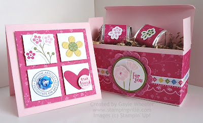 Stampin' Up! Ice Cream Parlor Accessories Box And Card