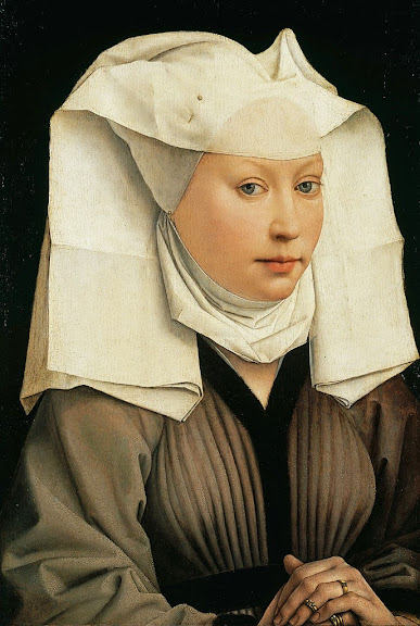 Rogier van der Weyden - Portrait of a Woman with a Winged Bonnet - Google Art Project