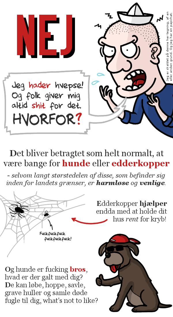 Hvorfor er du bange for hunde og edderkopper?