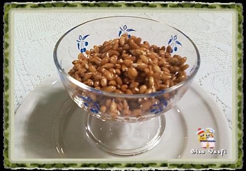 Grãos de trigo germinados