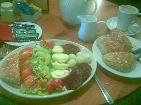 vegetarian ploughmans  lunch
