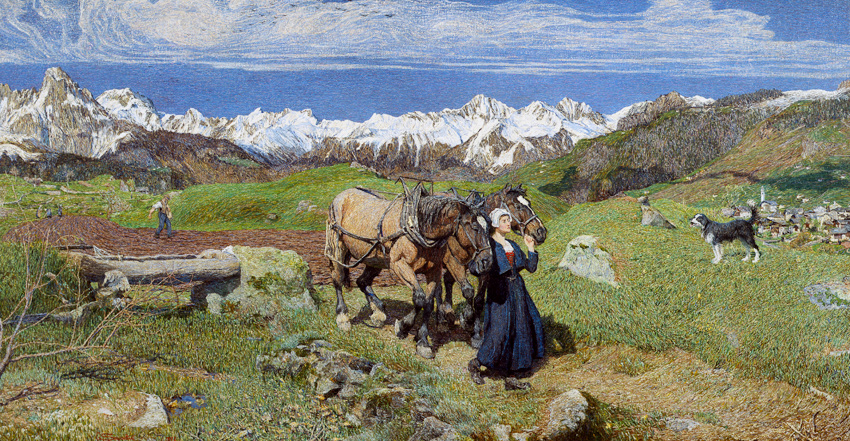 Giovanni Segantini - Springtime in the Alps