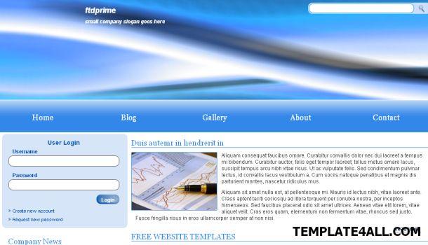 Free HTML Corporate Company Bleu Web Template