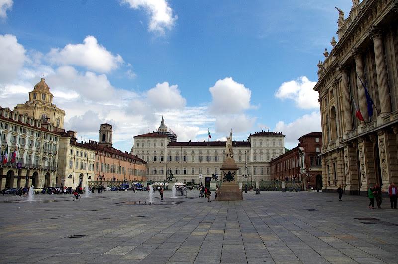 Turín en un día. Plaza del Castillo, Castello, Turín