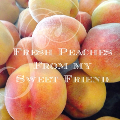 Fresh peaches, homegrown peaches