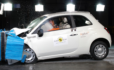 European Fiat 500 crash test