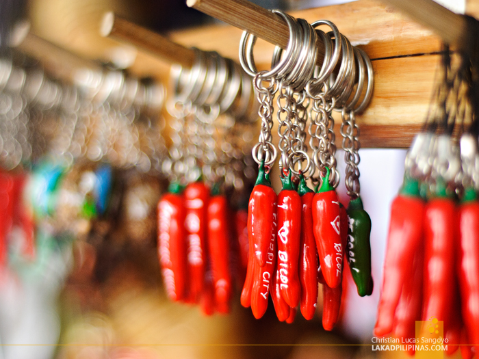 Sili Keychains at Legazpi's Ibalong Pasalubong Center