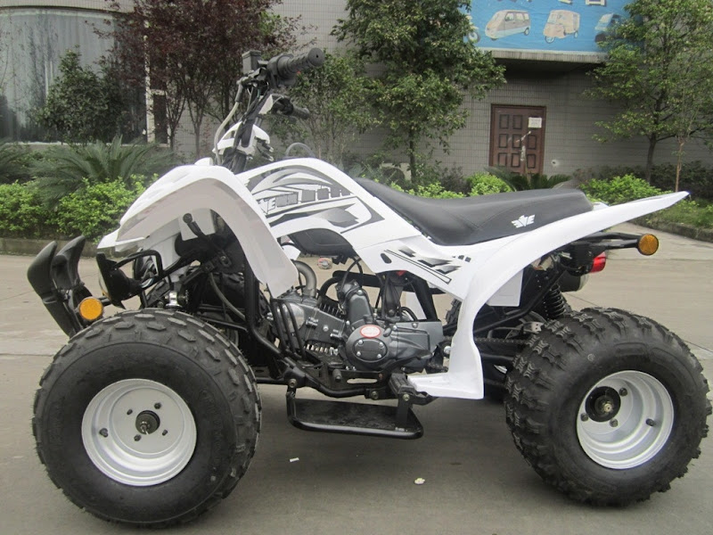 125cc Large Kids Sports Quad Bike ATV - White