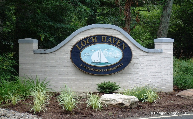 community entrance sign
