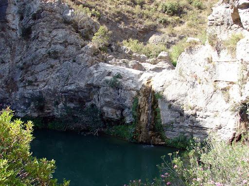 sendersimo barranc de l'Encantà: Cascada