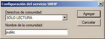 Configuración servicio SNMP en W200R2 para polling y traps