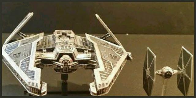Fury Interceptor de Mel Miniatures con Tie de Fantasy Flight