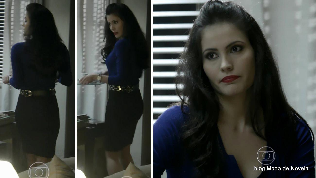 moda da novela Império - look da Carmen dia 11 de agosto