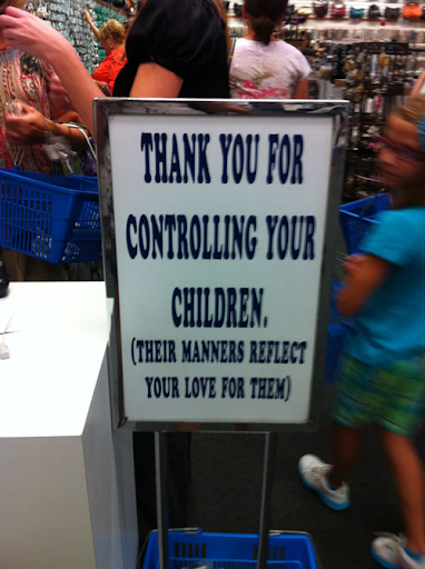 control your children sign