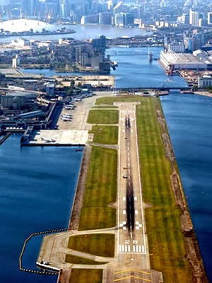 London City Airport, Royal Docks