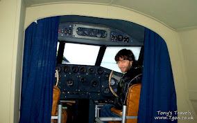 The cockpit of the Foynes flying boat