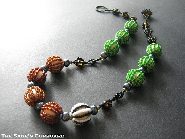 Bead Covered Bead Necklace