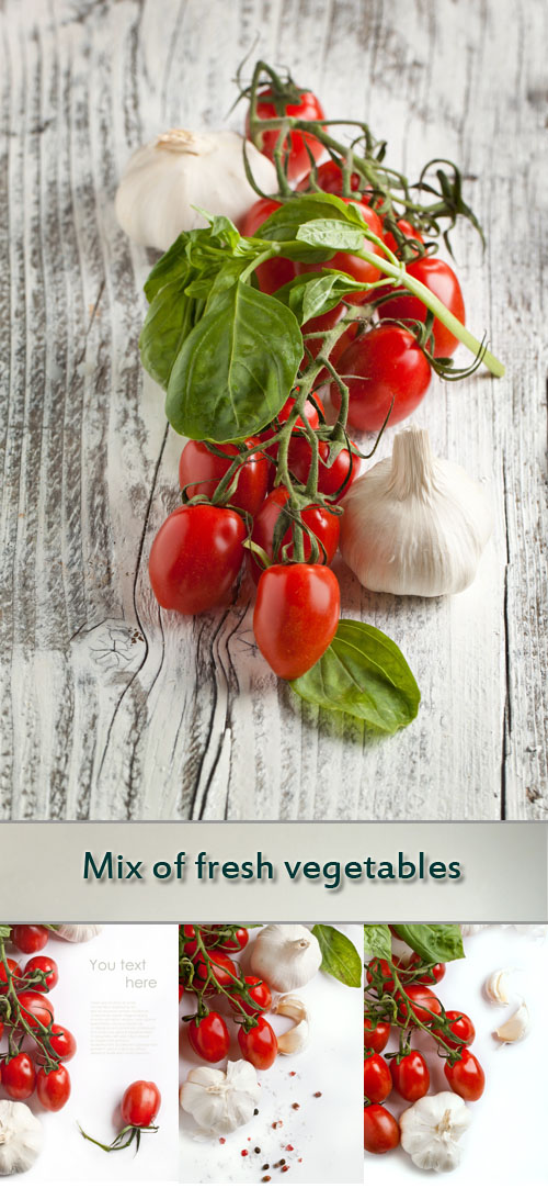 Stock Photo: Mix of fresh vegetables