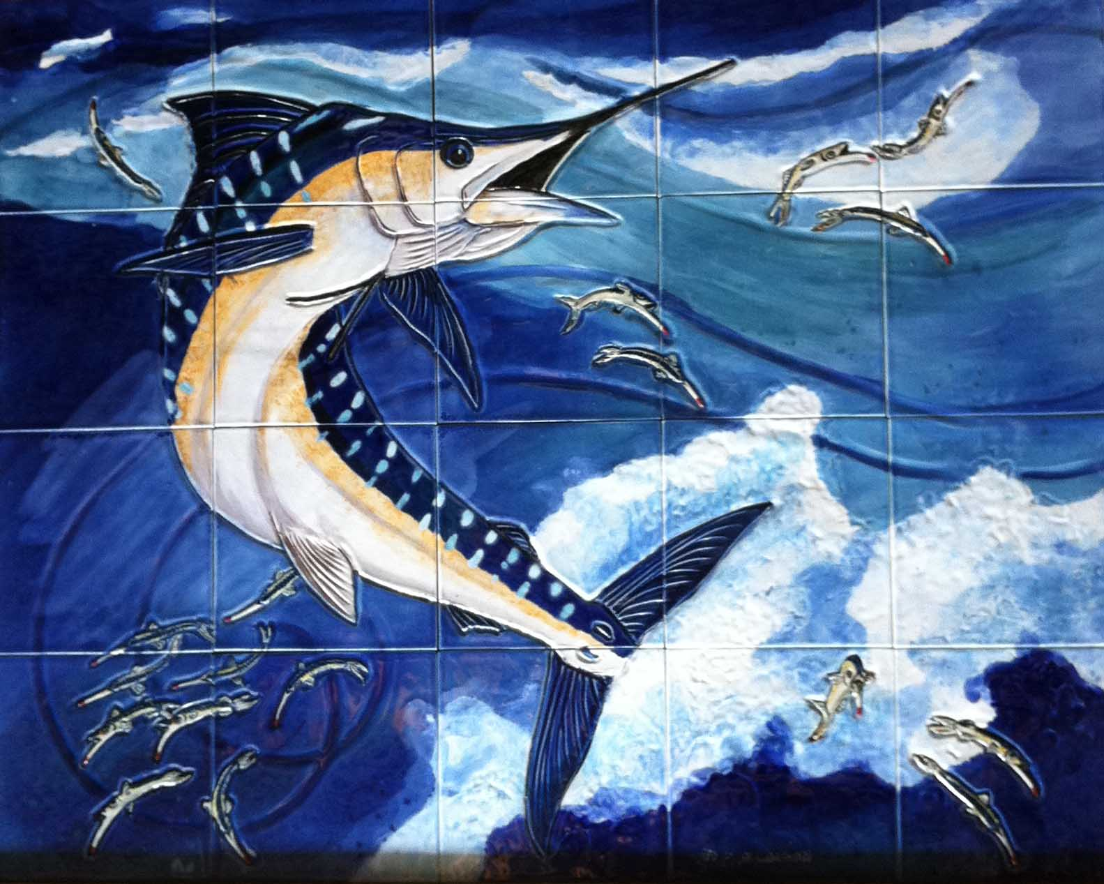 Dianes Art Stuff Marlin Tile Mural Is Done