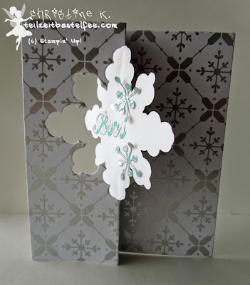 stampin up, in{k}spire_me special, christmas, weihnachten, snowflake thinlits card, schneekristall karte, stille nacht,