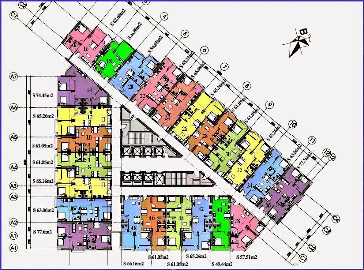 sơ đồ thiết kế chung cư vp6 linh đàm