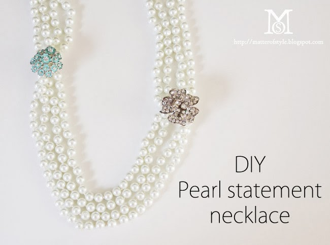 statement diy pearl necklace, gift idea for her