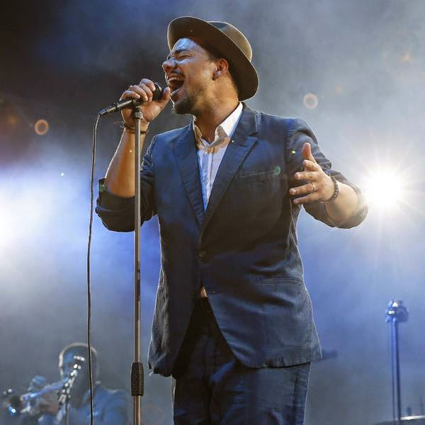 French singer Ben L'oncle Soul performs on stage at the Nice Jazz Festival, southeastern France, on July 8, 2014.