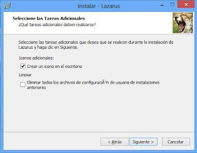 Instalar Free Pascal Lazarus en Windows 8