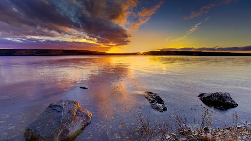Sunset Mirrors in the Waters of Gander Lake, Newfoundland.jpg
