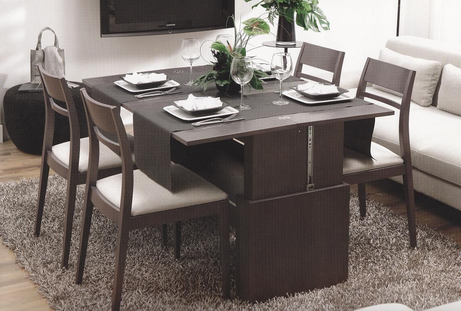 Mesa de centro convertible elevable y extensible a comedor for Mesas de centro comedor