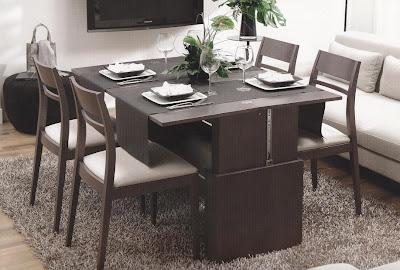 Mesa de centro convertible elevable y extensible a - Mesa centro convertible en mesa comedor ...