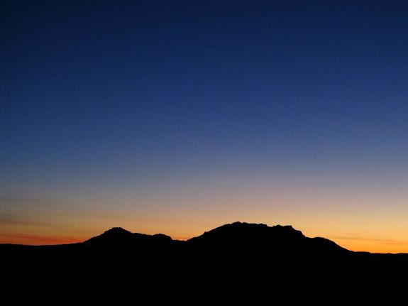 Sunrise beyond the Henrys
