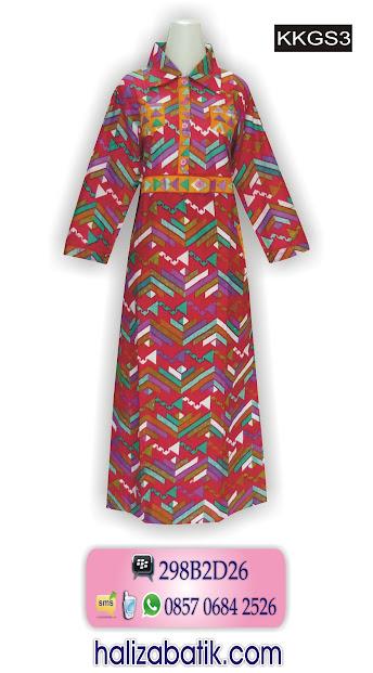 contoh model batik, model gamis batik modern, model baju terbaru