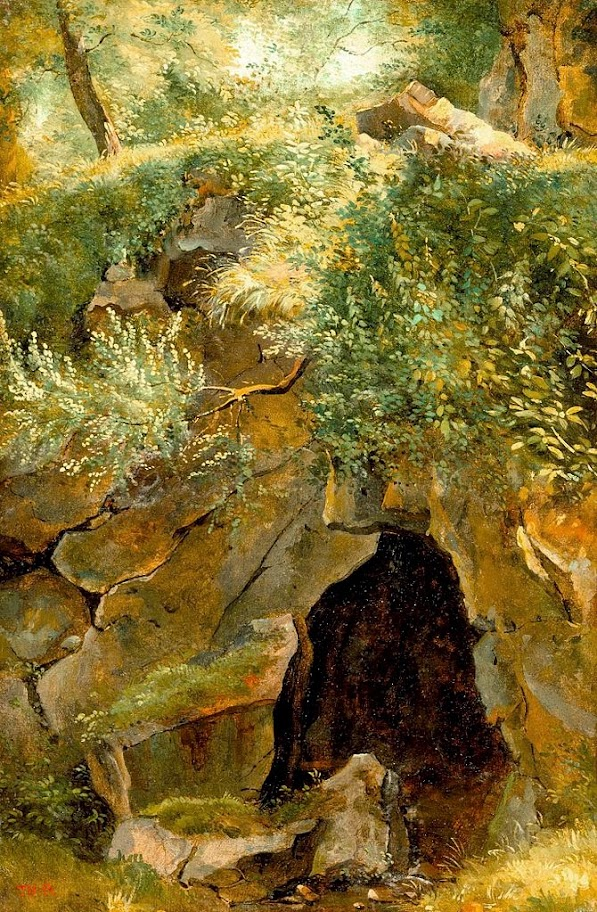 Théodore Rousseau - The Cave