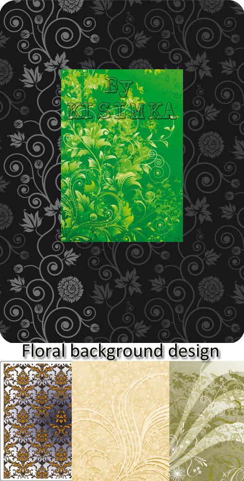 Stock: Floral background design, vector illustration